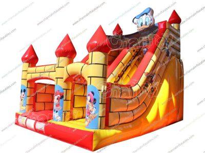 donald duck inflatable slide