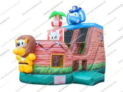 pirate elephant inflatable slide