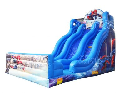 spider man inflatable slide