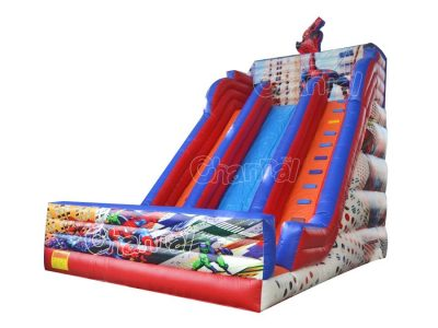 spider man red inflatable slide