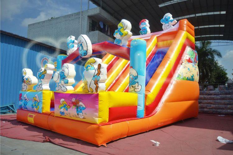 the smurfs inflatable slide
