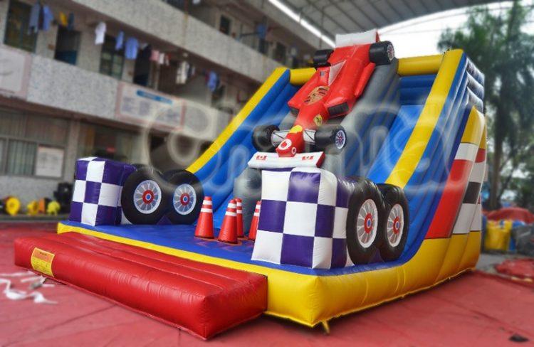 racecar inflatable slide