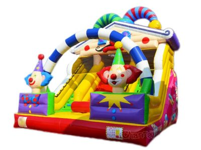 clown theme inflatable slide for sale