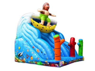 surfing theme inflatable slide