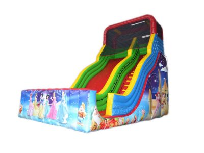 princess with 7 dwarfs inflatable slide
