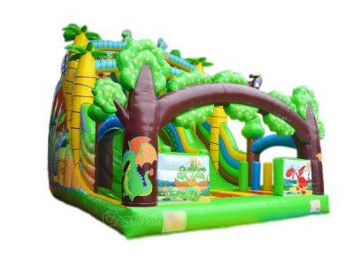 inflatable dinosaur slide for kids