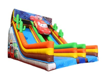 Disney cars film themed inflatable slide for sale