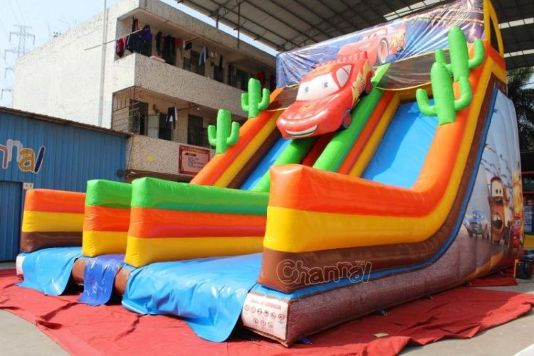 cars inflatable dry slide