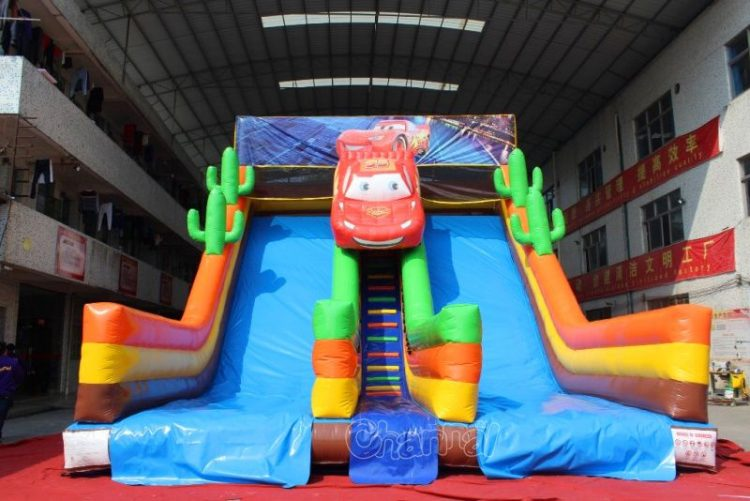 front side of McQueen inflatable slide