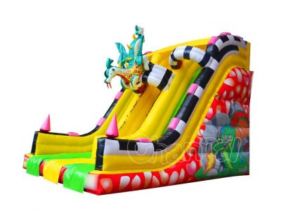 fire dragon inflatable slide