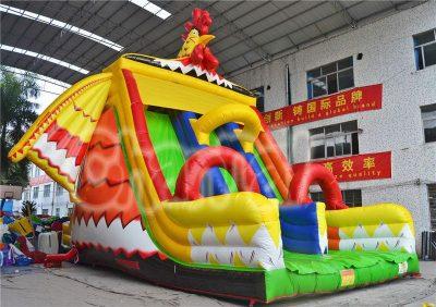 cock inflatable triple slides