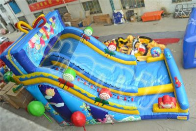 gift box inflatable slide