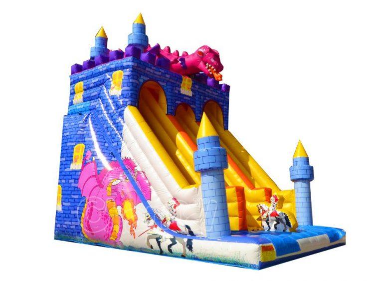 knight vs dragon inflatable slide