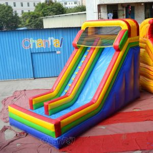 18'H dry inflatable slide