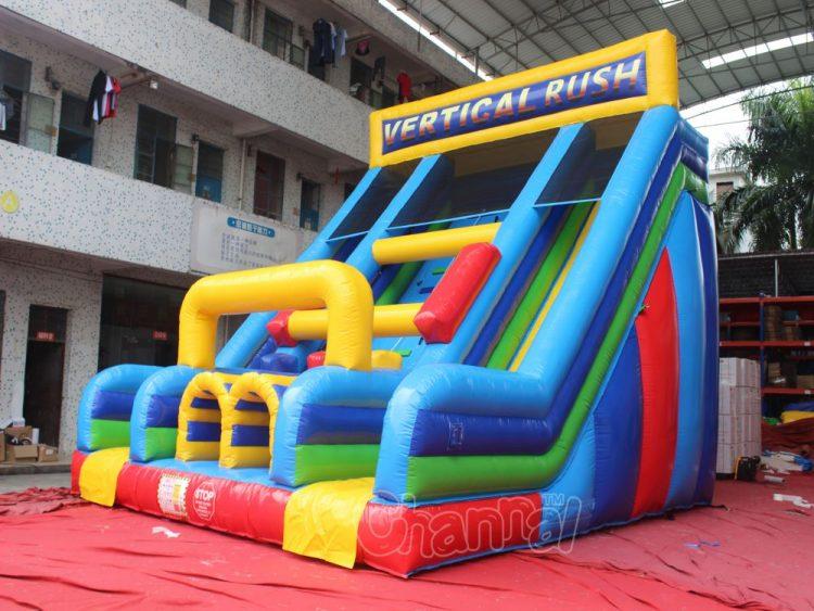 vertical rush inflatable slide