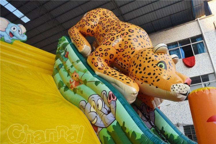 Leopard Inflatable Slide