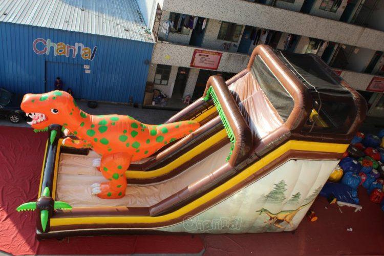 giant jurassic t-rex inflatable slide