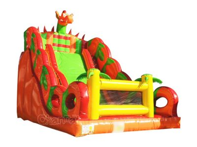 red furious dragon inflatable slide for kids