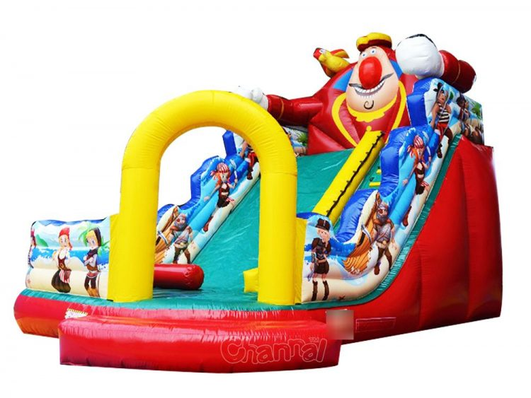 pirate bay inflatable slide with a fat pirate