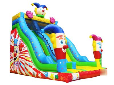 magic clown inflatable slide for birthday party