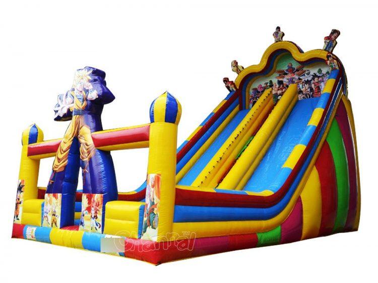 dragon ball goku inflatable slide