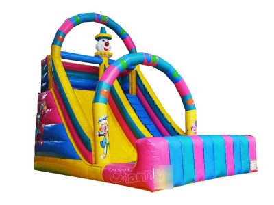 party clown inflatable slide for kids special days
