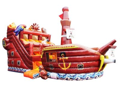pirate ship inflatable bouncy slide for kids