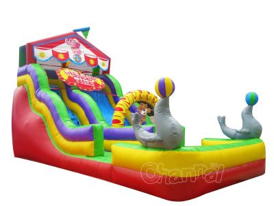 circus time inflatable slide for sale