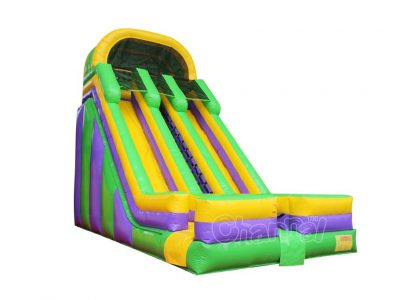double lane inflatable slide for sale