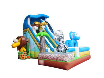 African animals inflatable slide for sale