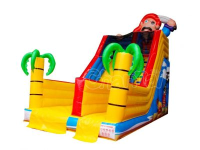 pirate loot inflatable slide