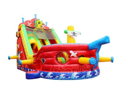 pirate ship sail inflatable slide for sale