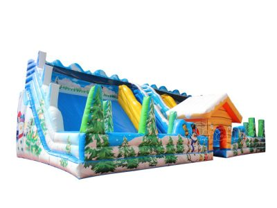 winter town inflatable slide for sale