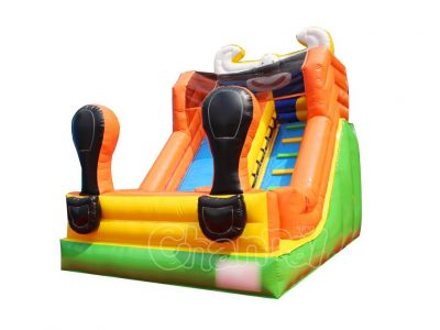 big shoes clown inflatable slide
