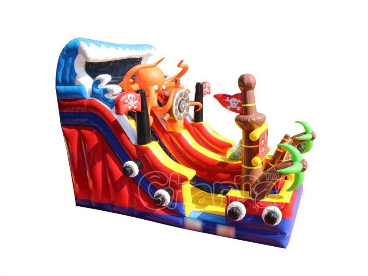 pirate octopus inflatable slide
