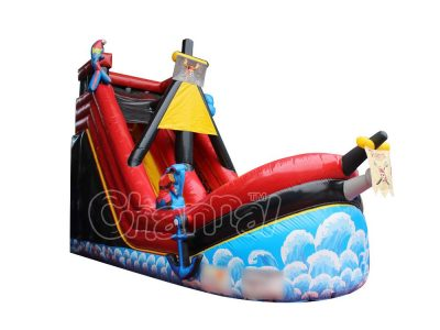 inflatable pirate ship water slide