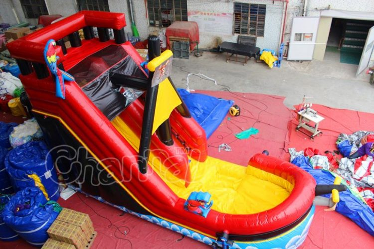 pirate ship inflatable water slide for sale