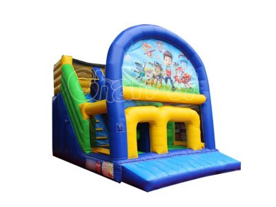 inflatable slide with replaced art panel