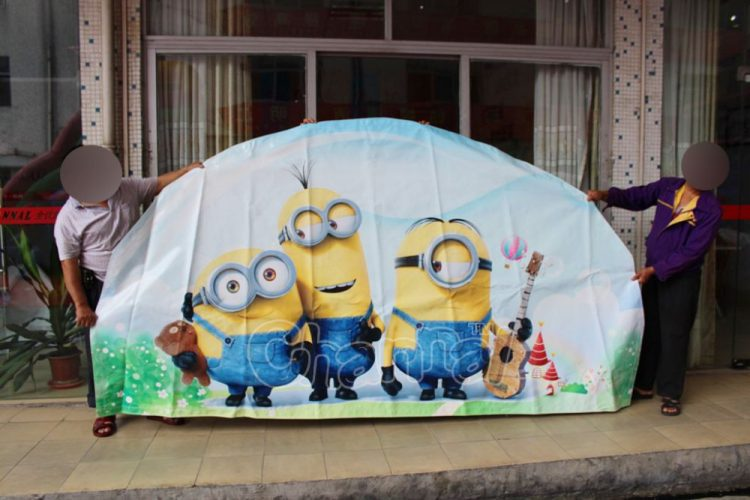 minion art panel for inflatable slide