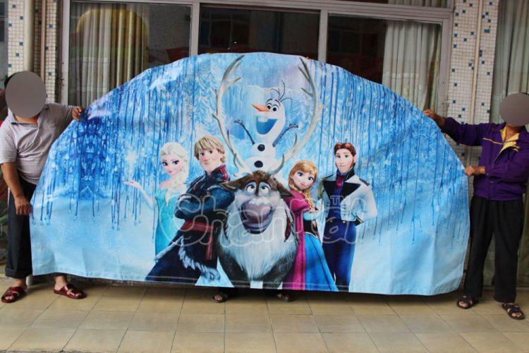 frozen art panel for inflatable slide