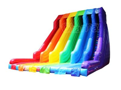 7 color rainbow inflatable slide