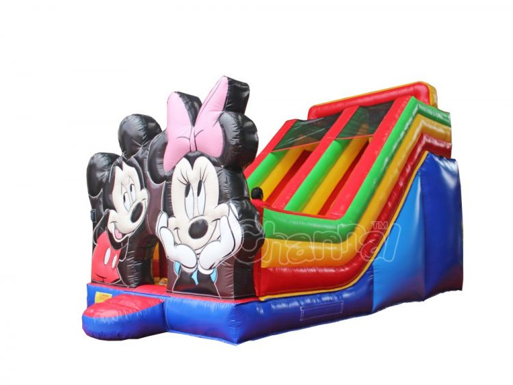 mickey minnie inflatable slide