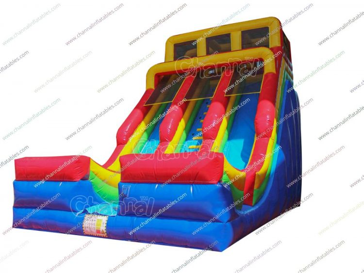2 lane inflatable slide