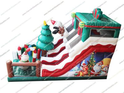 snowman inflatable slide