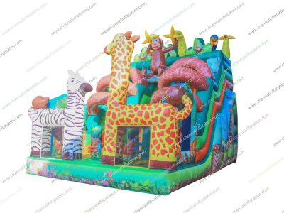 animal inflatable slide