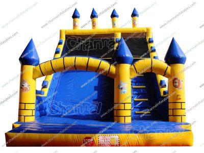 brick castle inflatable slide