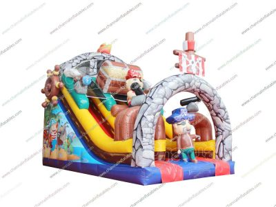 pirate treasure inflatable slide