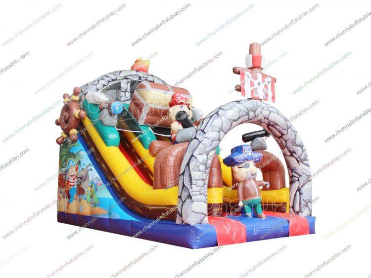 pirate treasure inflatable slide