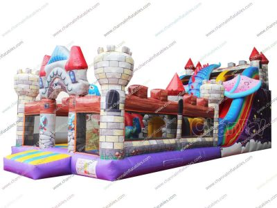 dragon castle inflatable slide