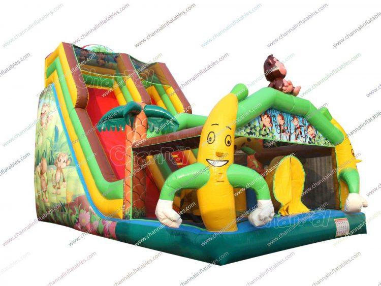 monkey banana inflatable slide